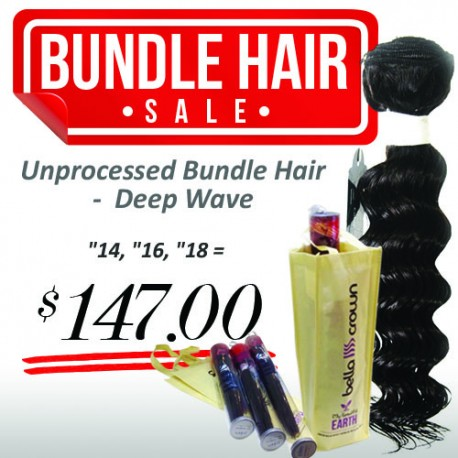 "3 Bundle (14"", 16"", 18"") - Deep Wave"